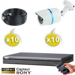 Caméra tube HD-CVI / TVI / AHD / Analogique IR 20m 2.4 MégaPixels FULL HD 1080P