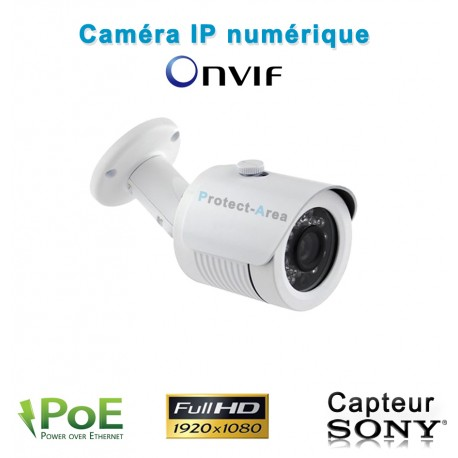Caméra IP POE 1080P FULL HD Infrarouge 20m ONVIF capteur SONY