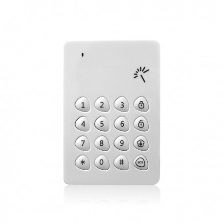Clavier avec lecteur badge tag RFID sans fil - alarme MFprotect