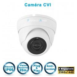 Caméra dôme HD-CVI / TVI / AHD / Analogique IR 20m 4 MégaPixel