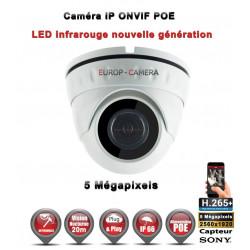 Dôme IP anti-vandal IR 20M ONVIF POE Capteur SONY 5 MegaPixels - Caméra de vidéo surveillance IP