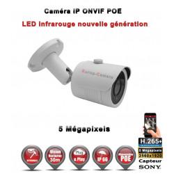 Tube IP anti-vandal IR 30M ONVIF POE Capteur SONY 5 MegaPixels - Caméra de vidéo surveillance IP
