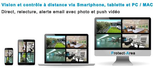 Vision à distance smartphone tablette pc / mac
